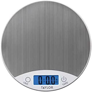 Taylor Precision Products 389621 Stainless Steel Digital Kitchen Scale, One Size, White