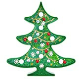 FKSDHDG Nuevo DIY LED Diamond Pintura Noche Luz de Navidad Árbol de Navidad Muñeco de Nieve Punto de Cruz Bordado Forma Especial Boda Decoración de la Boda