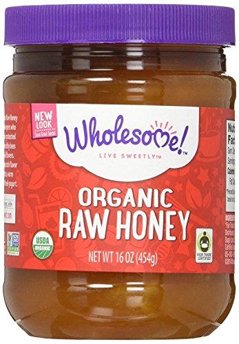 Wholesome Sweeteners Organic Fair Trade Raw Honey, 16 Ounce Jars (Pack of 6)