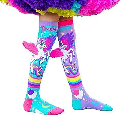 Niñas Unicornio con alas Calcetines de Camello Calcetines de algodón, Medias Altas de Dibujos Animados Animal Calcetines de algodón cálidos Crosvos Lindos para niños (Size : Small)