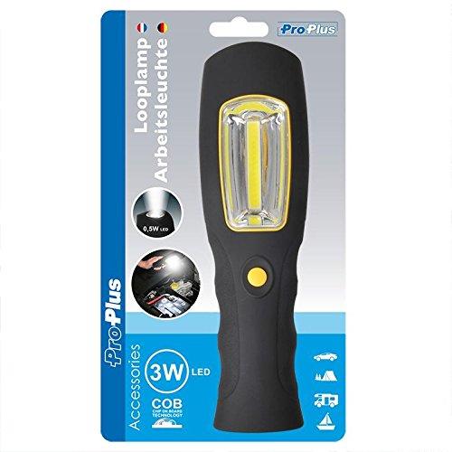 ProPlus 440052 Lampe de travail, plastique, noir, 6 x 3.6 x 20,5 cm