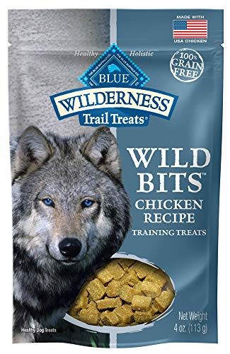 Blue Buffalo Wilderness Trail Treats Wild Bits Grain Free SoftMoist Training Dog Treats Chicken Recipe 4oz bag