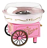 Nostalgia Vintage Hard and Sugar Free Countertop Cotton Candy Maker, Includes 2 Reusable Cones And Scoop – Pink, Main