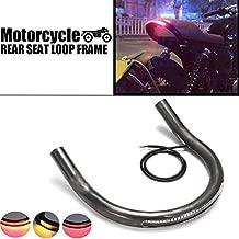 Sala-Ctr - Universal Motorcycle Seat Frame Hoop Loop Brat with LED Brake Turn Singal Light for Honda/Yamaha/Suzuki
