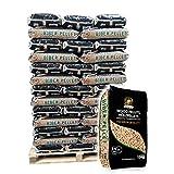 6mm Holzpellets Marke Biber, ENplus A1 zertifiziert, 0,38/kg, 960kg auf Palette, kostenfreie Lieferung, handlich verpackt in 64 Pakete  15kg, Holz-Pellets