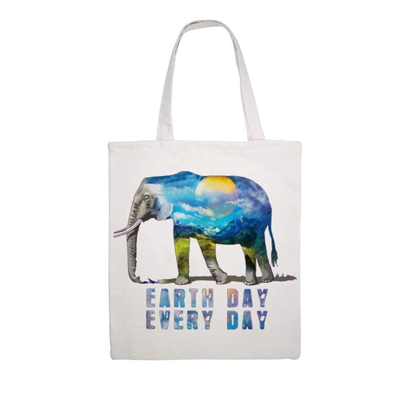トランスペアレント縫う上下するエコバッグ ショッピングバッグ トートバッグ メンズ レディース ショルダーバッグ Elephant 象 水彩画 オシャレ シンプル 手提げ キャンバス 帆布 ハンドバッグ