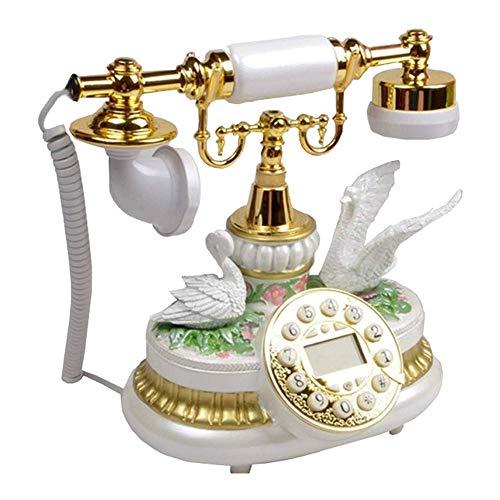 YANGYUAN Teléfono Antiguo Retro de Escritorio pasada de Moda con Cable Teléfono con Cable Manos de Apoyo Europeos Antiguos de línea Fija - Llamar Gratis, for el hogar decoración de la Oficina, con la