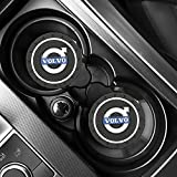 2 Unids Coche Taza De Agua Alfombrilla Antideslizante Alfombrilla Gel De SíLice Accesorios Para El Coche DecoracióN Interior Para Volvo V40 V50 V60 V70 S40 S60 S60l S70 S80 S90 Xc40 Xc60 Xc70 Xc80