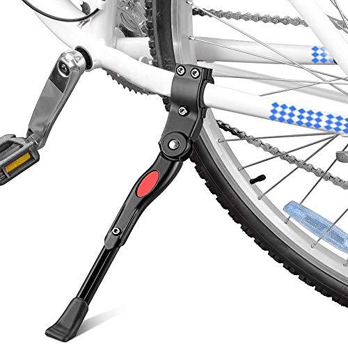 Fahrradständer Einstellbarer Fahrrad Seitenständer Fahrrad Ständer Aluminiumlegierung Universal Hinterbauständer Anti-Rutsch Seitenständer für 24-28 Zoll