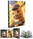 EMZOH Porte-cartes Pokémon, Album Carte, Cahier Carte, Livre Carte Album de Cartes à Collectionner, L'album a 24 Pages et Peut Contenir 432 Cartes (Detective Pikachu)