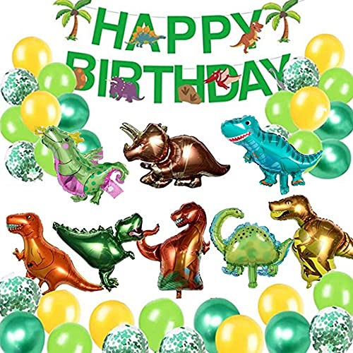 Globos de Dinosaurio Set,Dinosaurio Globo Grande,Selva Dinosaurio Globos ,Globos de Dinosaurios para Cumpleaños,3D Globos de Dinosaurio,Juego de Decoración de Cumpleaños de Dinosaurio