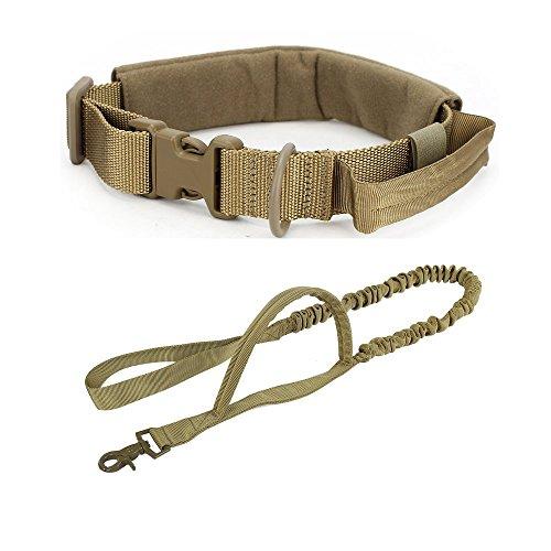 Tactical Einstellbare Große Hundehalsband und Bungee Leine Set Jagd Camo Hundetraining Ausrüstung mit D Ring