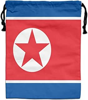 HQSS Flag Of North Korea Gym Drawstring Bags Travel Backpack Tote School Rucksack Shopping Gift Bag
