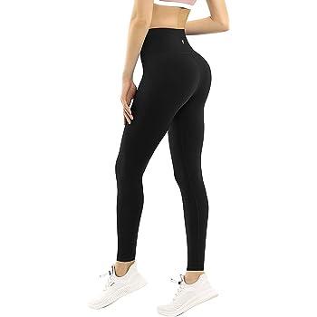 MTSCE Women Yoga Pants with 3 Pocket S-XL High Waist Tummy Control 4 Way Stretch Compression Leggings