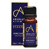 Absolute Aromas Aceite esencial de bergamota orgánico 10 ml - 100% puro, natural, sin diluir, vegano y libre de maltrato animal - Para humidificador y mezclas de aromaterapia