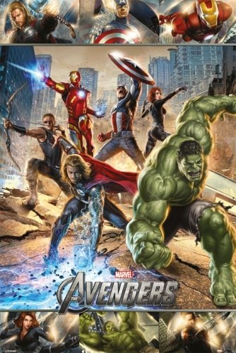 The Avengers - Marvel Movie Poster/Print (Action - Iron Man, Thor, Captain America.) (Size: 24 inches x 36 inches)