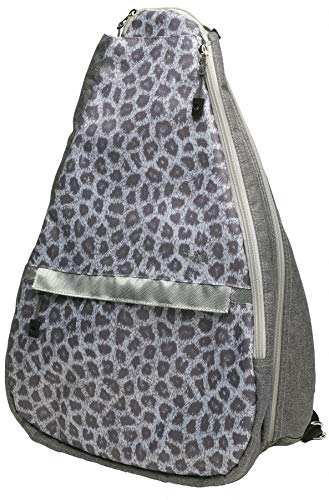 Glove It Tennis Backpack for Women, Lightweight Ladies Tennis Bag & Sling Backpack for 2 Racquets, Balls, Water Bottle, Starz, Snow Leopard, one Size (TR266)