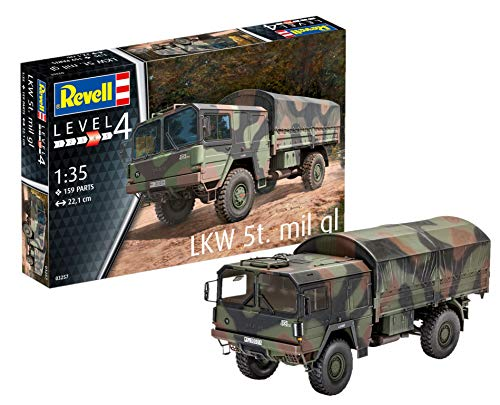 Revell 03257 - Modellbausatz Panzer 1:35 - LKW 5T. Mil Gl (4x4 Truck) im Maßstab 1:35, Level 4, Orginalgetreue Nachbildung mit vielen Details -