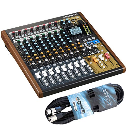 Tascam Model 12 - Mesa de mezclas con interfaz de audio y cable de...