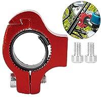 高い堅牢性自転車サイクリングカップホルダーパーツ絶妙な技量耐久性のあるハンドルバーマウントドリンクトレイルライディングのトレーニング競技用ボトルホルダー(red)