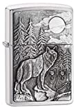 Zippo Timberwolves Brushed Chrome Pocket Lighter