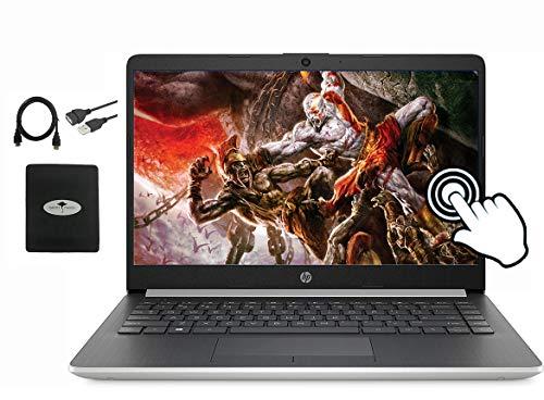 "2020 HP 14"" Touchscreen Laptop Computer , AMD Ryzen 3 3200U up to 3.5GHz (Beat i5-7200U), 8GB RAM DDR4, 512GB PCIe SSD, Webcam, 802.11AC, WiFi, USB Type-A&C, Win10, w/GM Accessories"