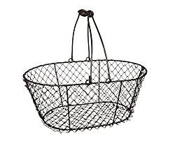 Cute chicken wire basket for school raffles.