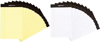 AmazonBasics Narrow Ruled 5 x 8-Inch Writing Pad - Canary (50 sheets per pad, 12 pack) & Narrow Ruled 5 x 8-Inch Writing Pad - White (50 sheets per pad, 12 pack)