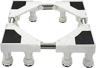洗濯機底上げ台 洗濯機 台座かさ上げ 冷蔵庫置き台 高さを調節可能 ドラム式や全自動洗濯機に幅/奥行43~68cm対応 防振パッド付き 減音効果振動を和らげます耐荷重350kg