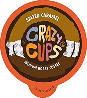 Crazy Cups Flavored Coffee, for the Keurig K Cups 2.0 Brewers, Salted Caramel, 22 Count