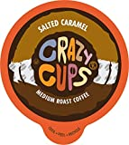 Crazy Cups Seasonal Hot Chocolate, Salted Caramel Fudge, Single Serve Cups for Keurig K Cup Brewers,13.9 oz, 22 Count