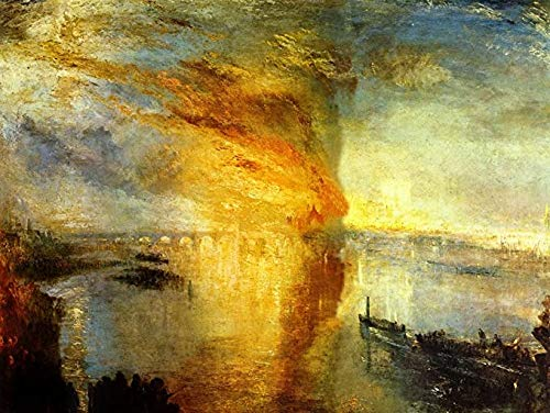 JYTD Jigsaw Puzzle Joseph Mallord William Turner - The Fire of The Parliament Building-October 16-1834 1000 Piezas 75 * 50CM