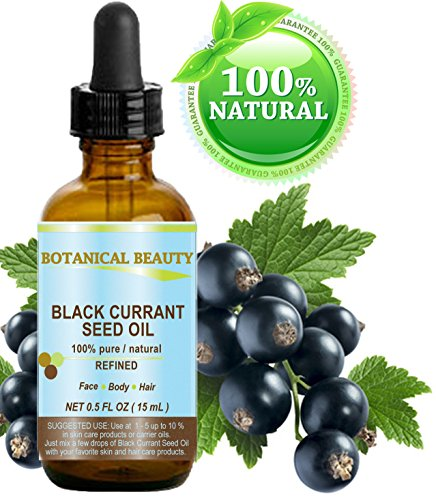 BLACK CURRANT SEED OIL 100% Pure / Natural / Undiluted / Refined Cold Pressed Carrier Oil. 0.5 Fl.oz. - 15 ml. For Skin, Hair, Lip And Nail Care.