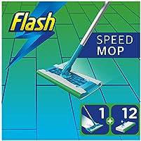 Flash Speedmop Starter Kit, Mop + 12 Absorbing Refill Pads, Fresh