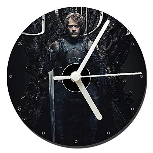 MasTazas Juego De Tronos Games of Thrones Season 8 Theon Greyjoy Alfie Allen Reloj CD Clock 12cm