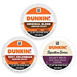 Dunkin' Mixed Roast Coffee Variety Pack, 60 K Cups for Keurig Coffee Makers