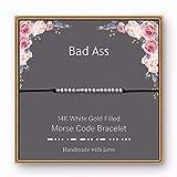 Badass Bracelet Morse Code - Badass Best Friends Gifts Morse Code Bracelet Jewelry Friendship Gifts for Women, Morse Code Bracelets Friendship Gifts