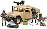 Click N' Play Military Humvee Vehicle 20 Piece Play Set with Accessories