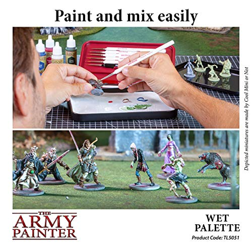 The Army Painter Wet Palette - Premium Brush Storing Palette with 50 Palette Sheets and 2 Sponges for Wargames Miniature Model Painting
