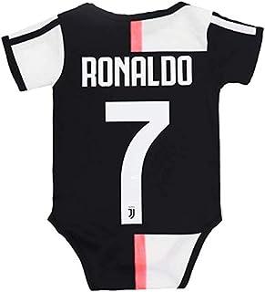 Qingxuh Juventus #7 Ronaldo 2019-2020 Home Soccer Bodysuits Infant OneSize Black/White