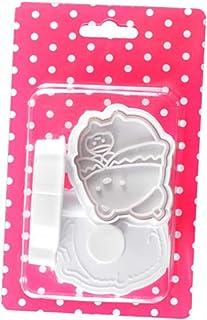 Coxeer 3PCS Biscuit Mold Cutter Multipurpose Fondant Cutter Shape Non Stick Cookie Cutter