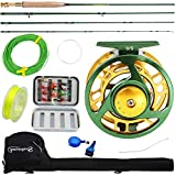 Sougayilang Fly Fishing Rod Reel Combos with Lightweight Portable Fly Rod and Fly Reel,Fly Fishing Complete Starter Package(Green)