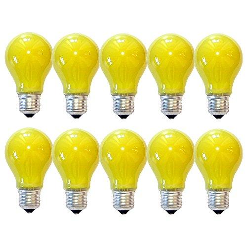 10 x Glühbirne 40W E27 Gelb Glühlampe 40 Watt Glühbirnen Glühlampen dimmbar für außen und innen Party Deko (Gelb)