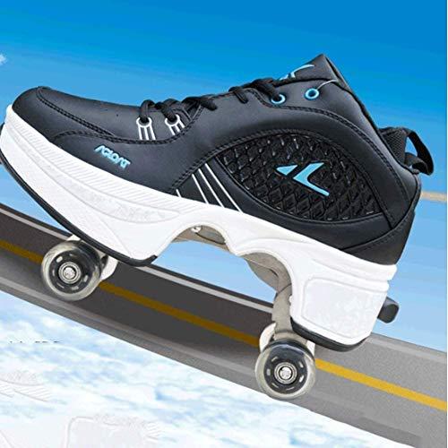 Classic Rollschuhe Verstellbare Quad Skate Rollschuhe Komfortable Roller-Skates Für Kinder Und Jugendliche Ideal Für Anfänger,37