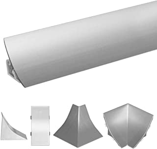 HOLZBRINK Rinconera Interior PVC para Copete de Aluminio Listón de Acabado Aluminio Copete de Encimera de Cocina 23x23 mm
