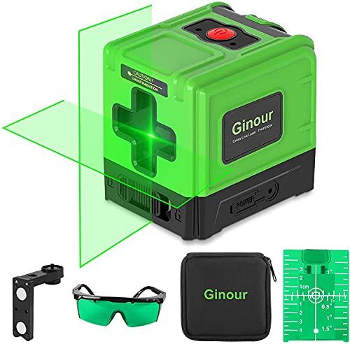 Nivel Láser 30M, Ginour Nivel Láser Autonivelante, USB Carga, 2 Láser Módulo Línea Cruzado, IP54, Función de Pulso, Soporte Magnético 360°Rotación, Nivelador láser para Decorar Interior