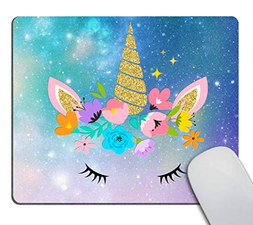 Smooffly Gaming Mouse Pad Custom,Cute Unicorn Design Customized Rectangle Non-Slip Rubber Mousepad Gaming Mouse Pad