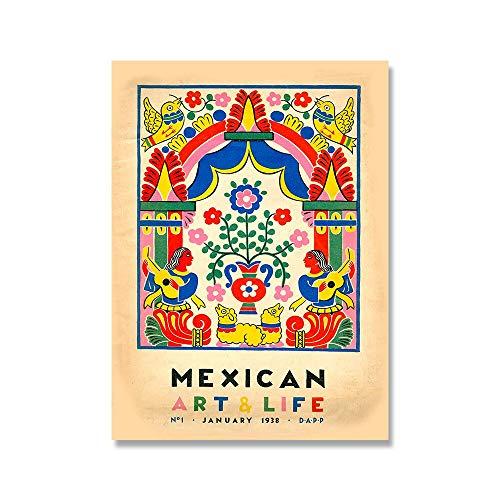 Póster de cactus vintage de El Maestro y arte impreso, cuadro de arte de pared mexicano, pintura de lienzo decorativa sin marco para el hogar, A1 50x75cm