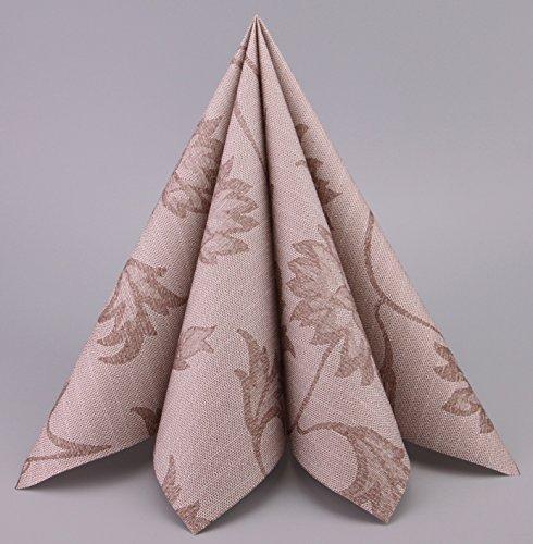 Deko Angels 100 Stück Papierservietten Noblesse Braun 40 cm x 40 cm (0,19€/Stück) Tissue Servietten 3-lagig zum Falten Premium Tischdekoration Hochzeit Geburtstag dünne Mundservietten
