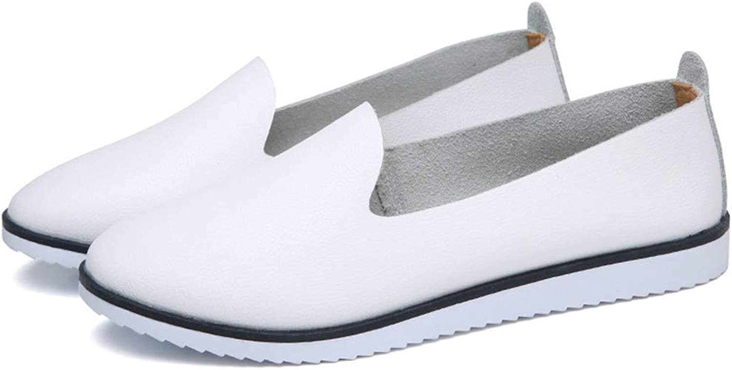 Bea-life Women Flats Genuine Leather Loafers Ladies Slip On Shallow Comfort shoes Casual